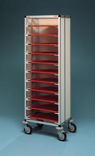 tablettwagen f r trapeztablett 480 x 340mm 1650. Black Bedroom Furniture Sets. Home Design Ideas