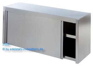 Wandhängeschrank 1,0 x 1,0m Edelstahl Hängeschrank Wandschrank Gastro Schiebetür