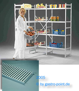 edelstahlm bel im shop bestellen aluminium regal mit 4 rost auflagen 1400x400x1800mm. Black Bedroom Furniture Sets. Home Design Ideas